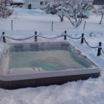 Jakuzi Hamilton zimą