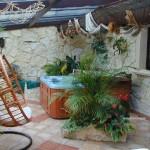 Ogród zimowy i wanna spa Marin