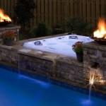 Cameo zagłębione przy basenie